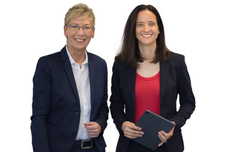 Die Geschäftsführung der Peterhoff Gebäudereinigung: Bettina Drews und Dr. Melanie Peterhoff